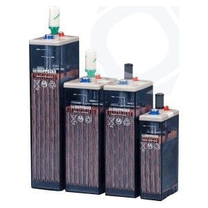 Hoppecke SunPower VL2-1220 C/100: 350Ah Vented Lead-Acid Battery / OPzS Series