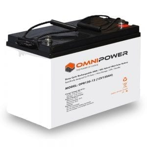 OmniPower 12V 120Ah OPR Deep Cycle Rechargeable AGM / GEL Hybrid VRLA Battery