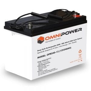 OmniPower 12V 240Ah OPR Deep Cycle Rechargeable AGM / GEL Hybrid VRLA Battery