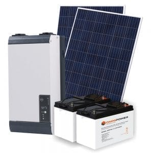 600W Off-Grid Solar Kit - Lead-Acid Batteries
