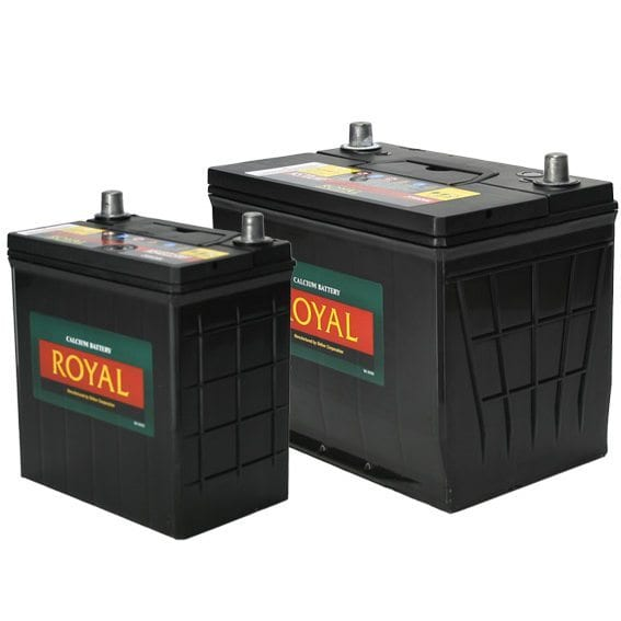 Royal Calcium Battery 12V / 100Ah General Purpose Semi Sealed - Slimline Battery / 20Hr Rate Maintenance Free
