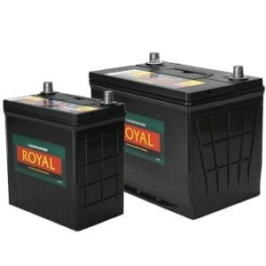 Royal Calcium Battery 12V / 70Ah General Purpose Semi Sealed - Slimline Battery / 20Hr Rate Maintenance Free
