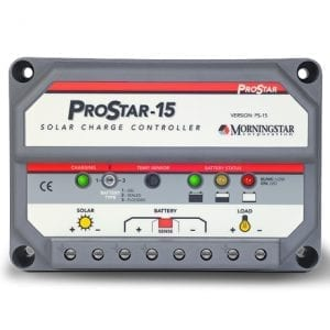 Morningstar ProStar PS15M-48 Charge Controller w/meter